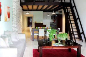 Communal living quarters at the Casa Del Lago luxury condominium